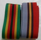 Rhodesia General Service Medal (GSM) & Zimbabwe Independance Medal, 2 x 60in Lengths of Medal Ribbon