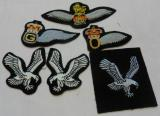 6 x Army Air Corps (AAC) Embroidered Trade Badges (T3)