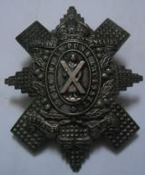 Highland Cyclist Battalion T.F. (Territorial Force) White Metal Sporran Badge KC