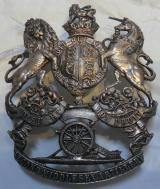 Victorian Second Middlesex Artillery White Metal Pouch Badge