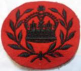 WWII Canadian Queens Own Rifles RQMS (Regimental Quarter Master Sergeant) Embroidered Rank Badge
